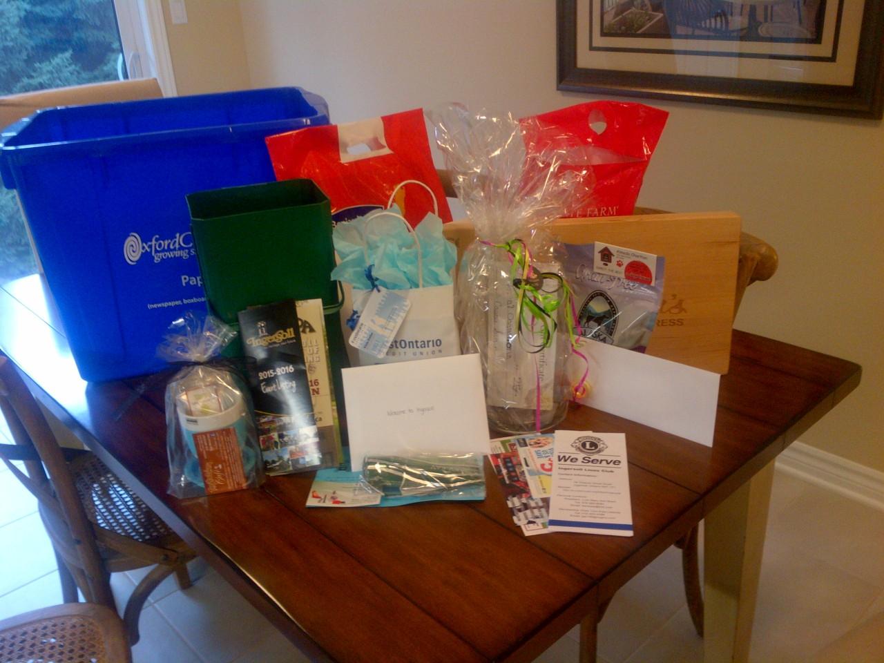 New Ingersoll Home Buyers Welcome Gift Basket