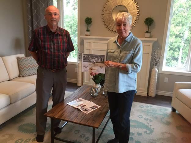 Winners of the McKenzie Homes $100 Gift Card to the Elm Hurst Inn